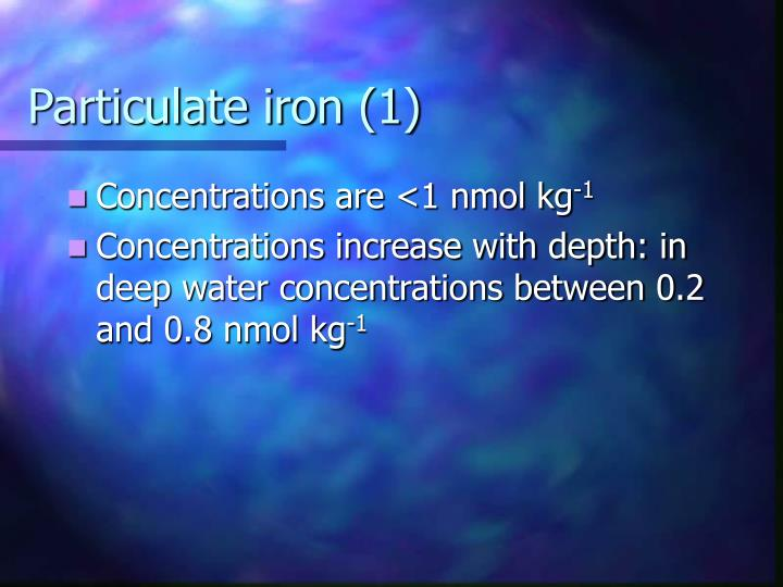 Particulate iron (1)