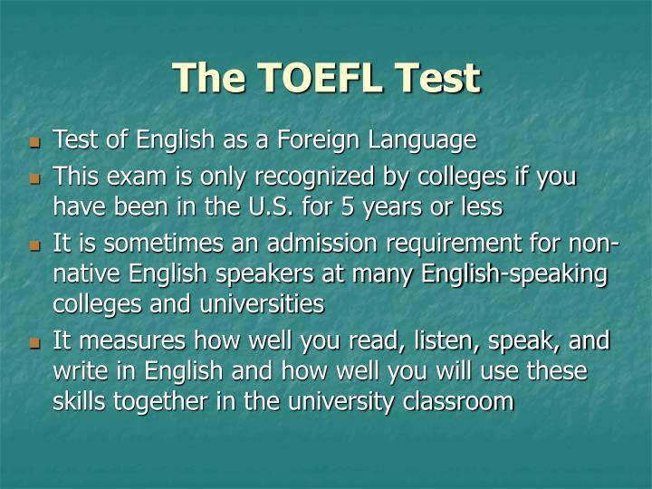 The TOEFL Test