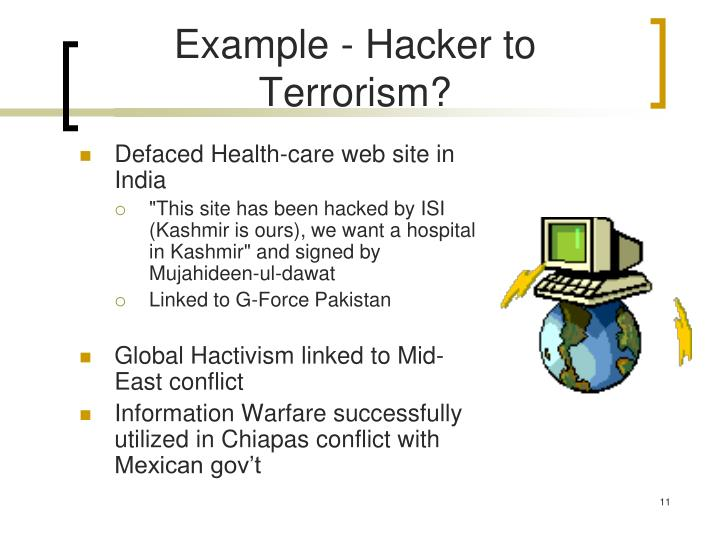 Example - Hacker to Terrorism?