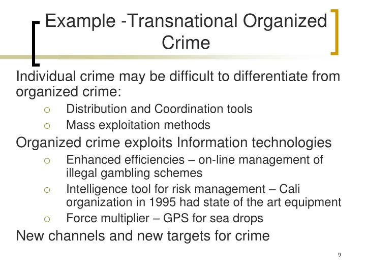 Example -Transnational Organized Crime