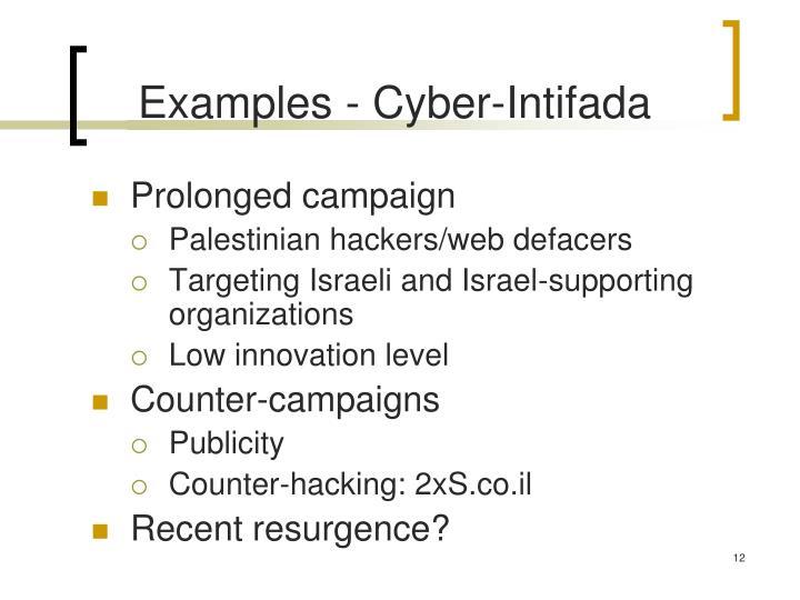 Examples - Cyber-Intifada