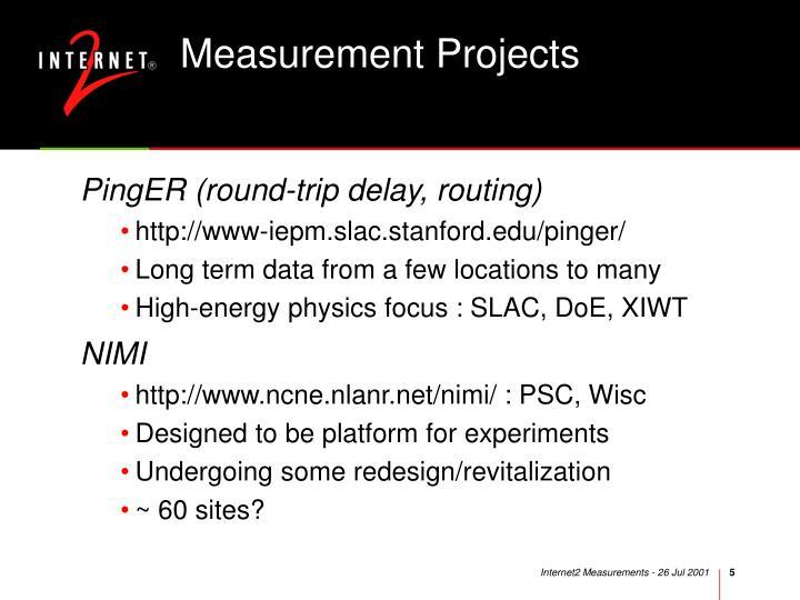 Measurement Projects
