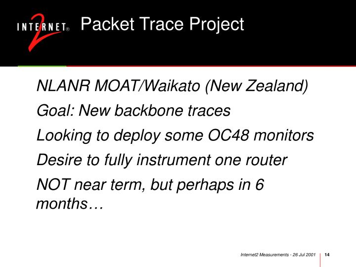 Packet Trace Project