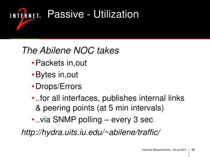 Passive - Utilization