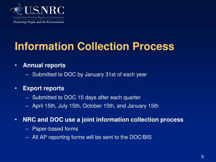 Information Collection Process