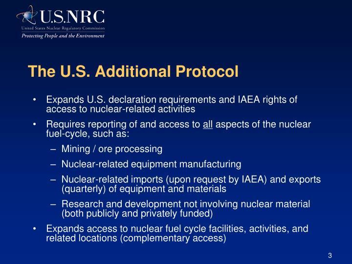 The U.S. Additional Protocol