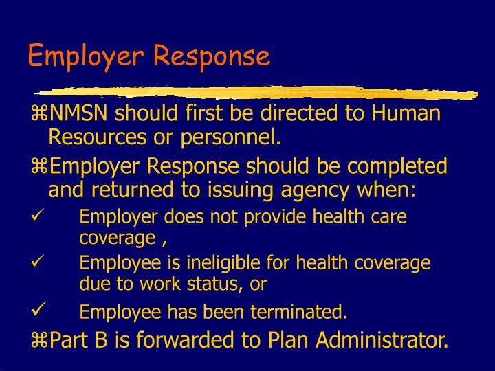 Employer Response