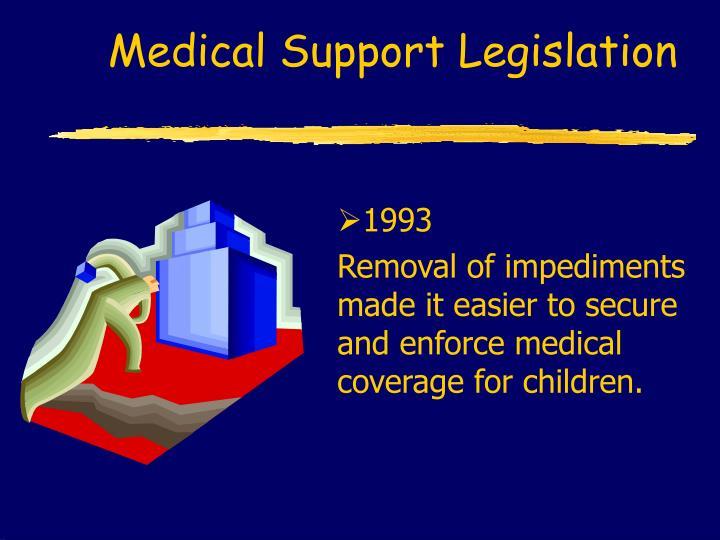 Medical Support Legislation