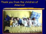 thank you from the children of america