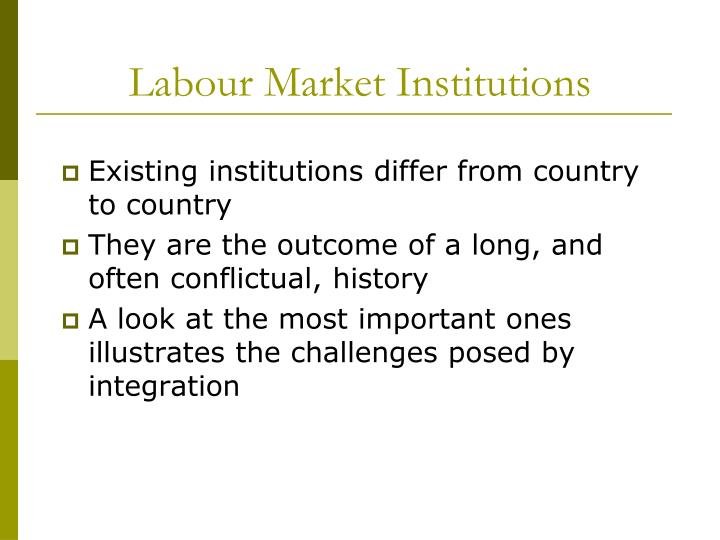 Labour Market Institutions