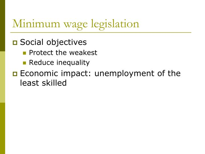 Minimum wage legislation