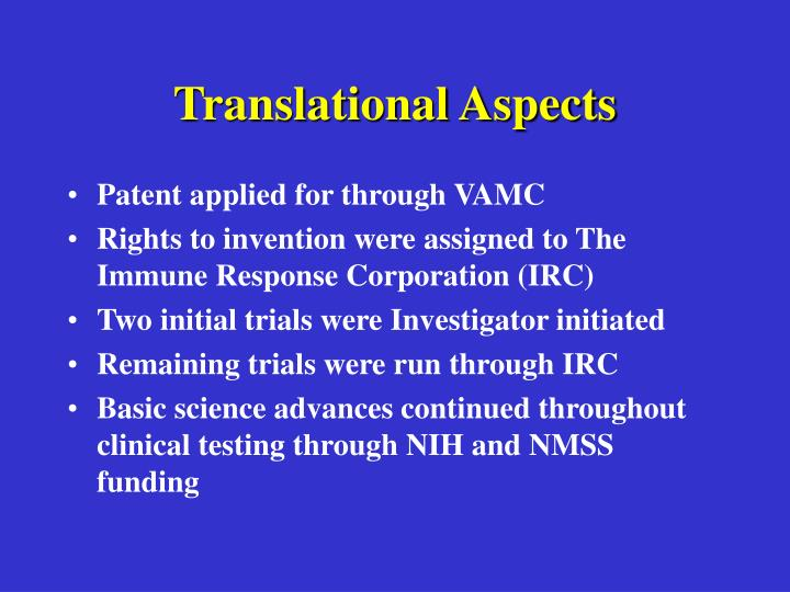 Translational Aspects