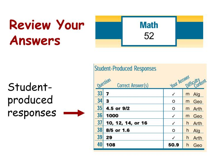 Review Your Answers