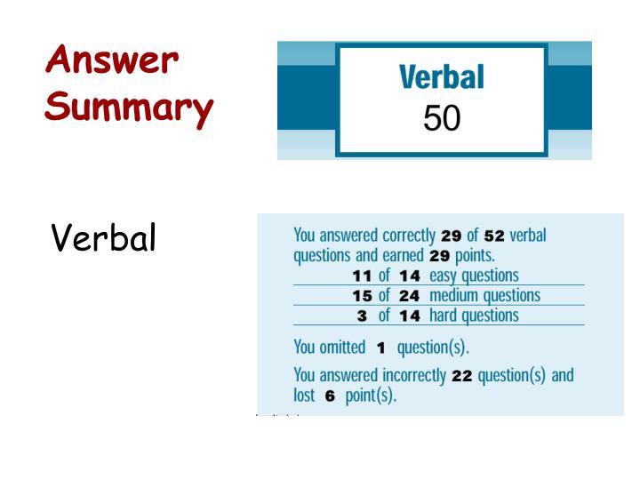 Answer Summary