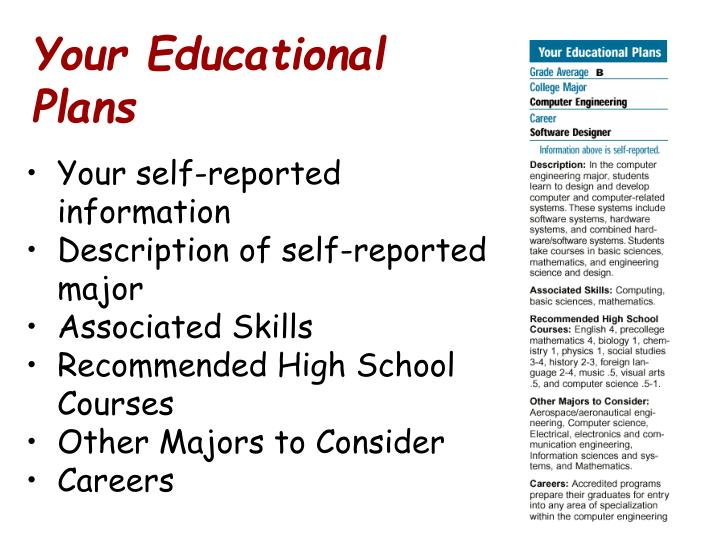 Your Educational Plans
