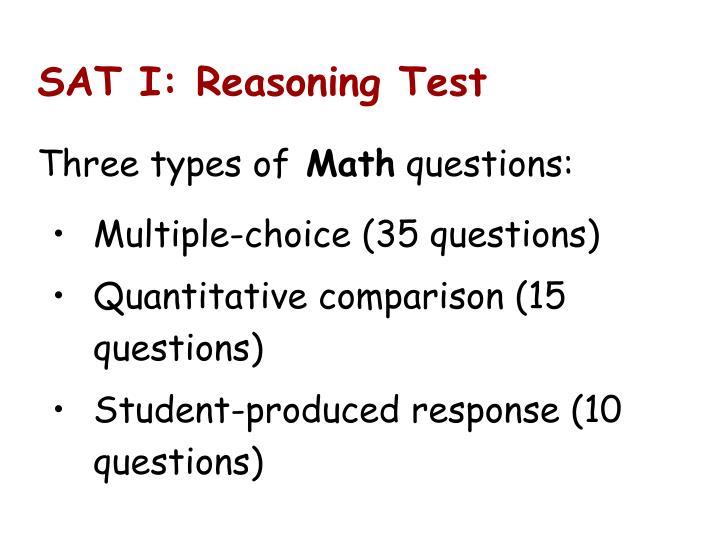 SAT I: Reasoning Test