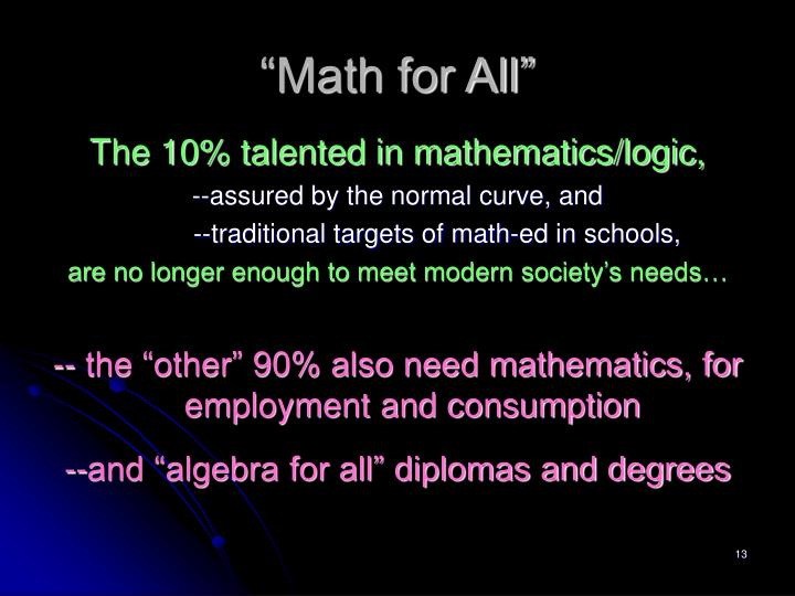 """Math for All"""