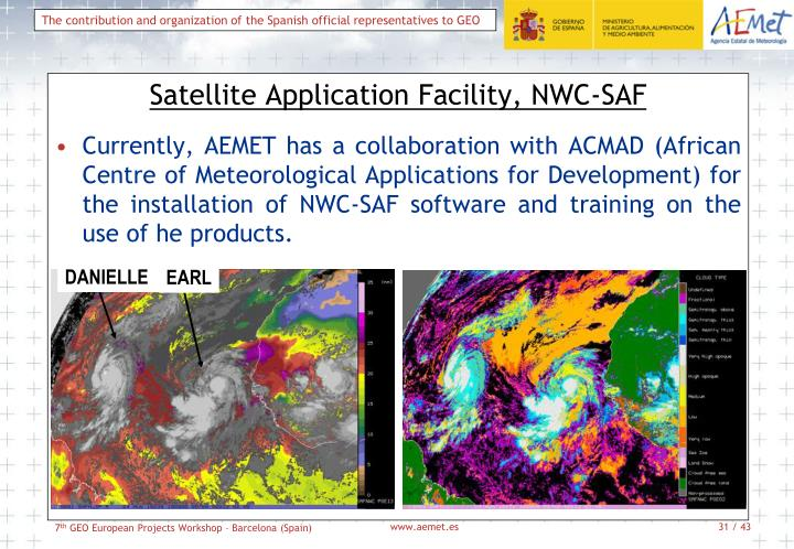 Satellite Application Facility, NWC-SAF