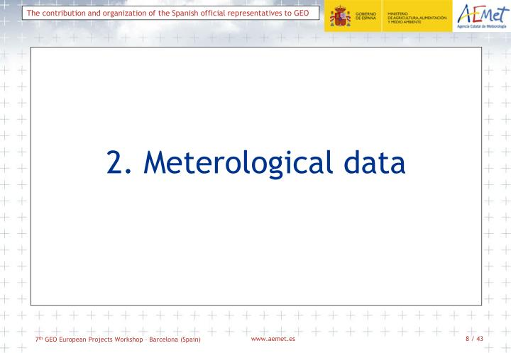 2. Meterological data