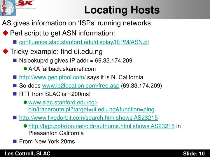 Locating Hosts