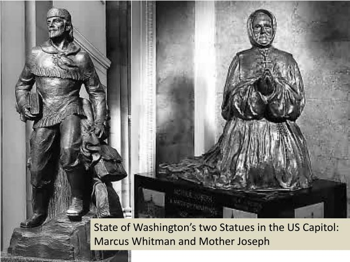 State of Washington's two Statues in the US Capitol: