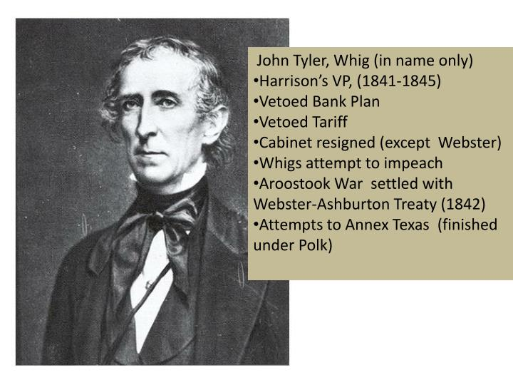 John Tyler, Whig (in name only)