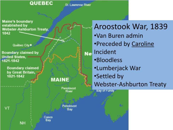 Aroostook War, 1839