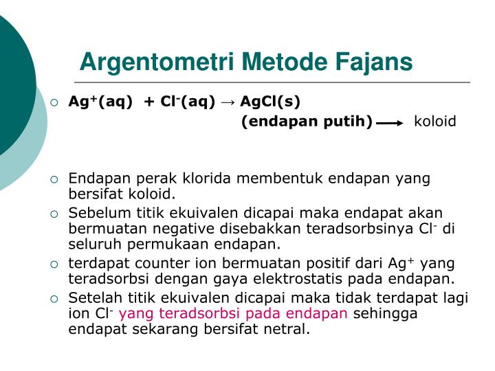 Argentometri Metode Fajans