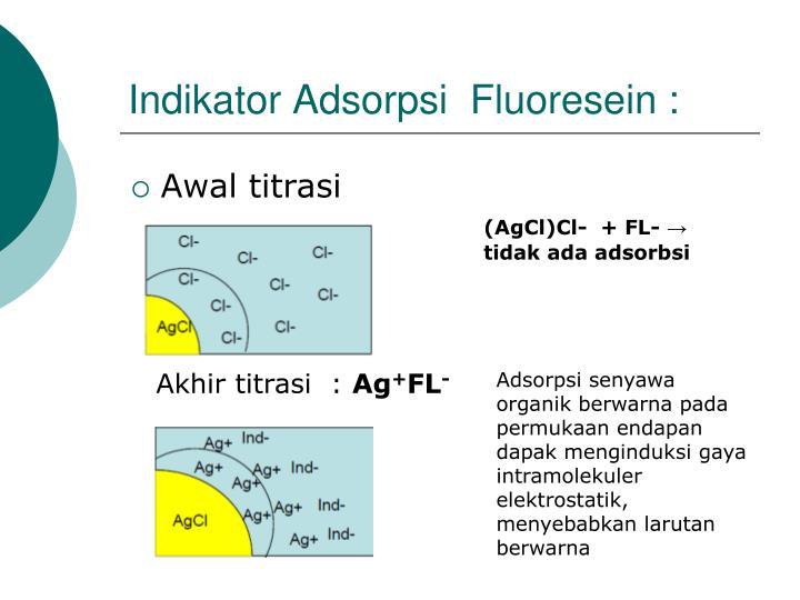 Indikator Adsorpsi  Fluoresein :