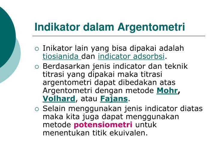 Indikator dalam Argentometri