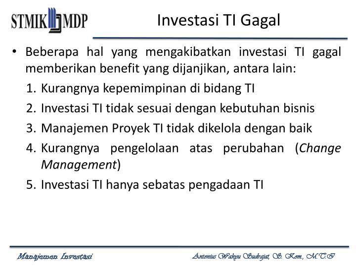 Investasi TI Gagal
