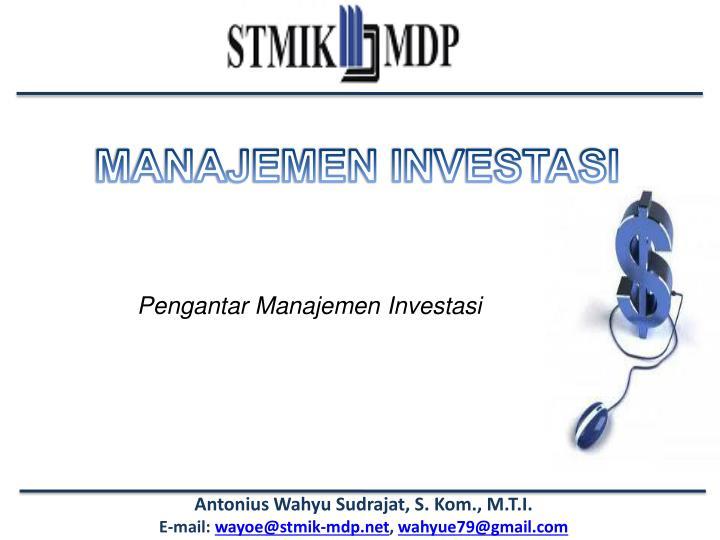 Pengantar Manajemen Investasi