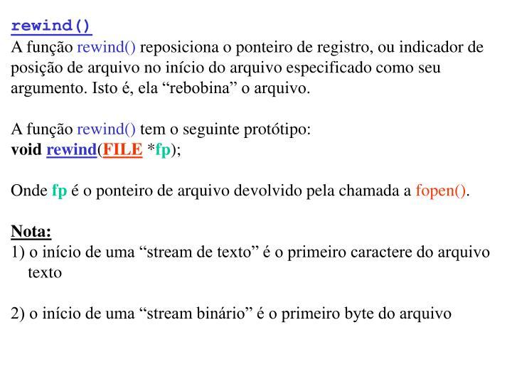 rewind()