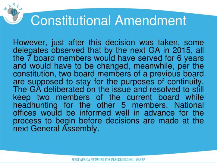 Constitutional Amendment