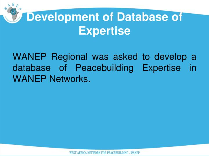 Development of Database of Expertise