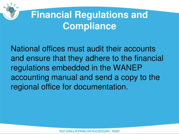Financial Regulations and Compliance