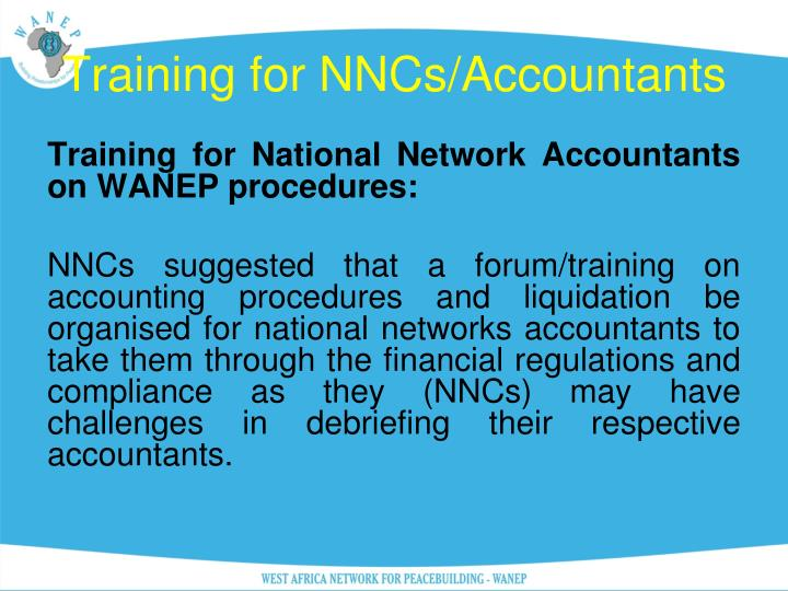 Training for NNCs/Accountants