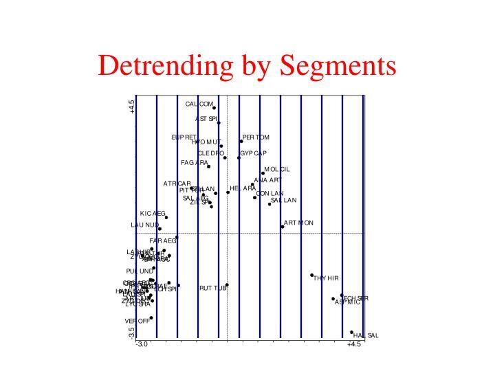 Detrending by Segments