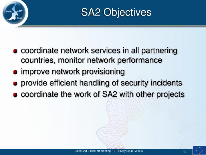 SA2 Objectives