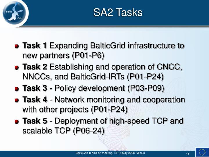 SA2 Tasks