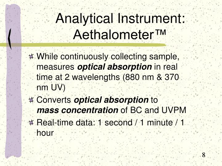 Analytical Instrument:  Aethalometer™
