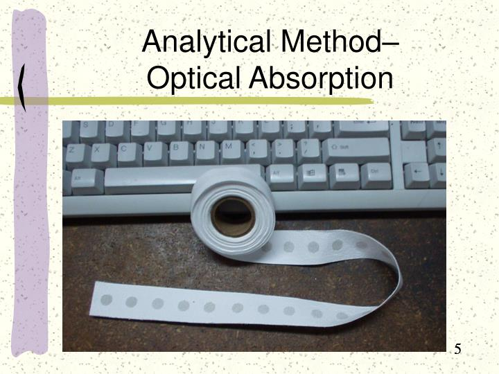 Analytical Method–