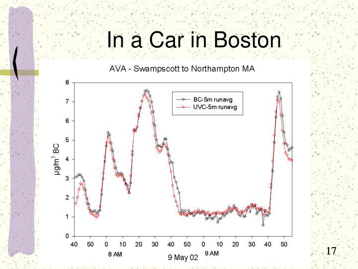 In a Car in Boston