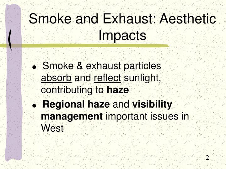 Smoke and Exhaust: Aesthetic Impacts