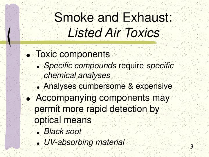 Smoke and exhaust listed air toxics