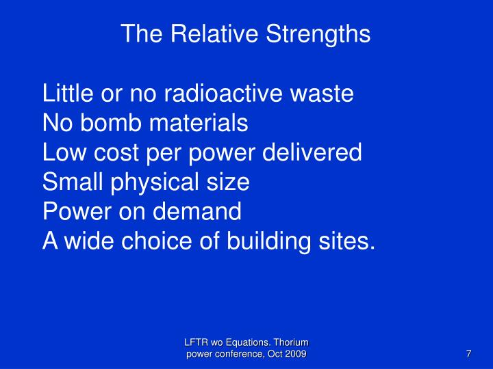 The Relative Strengths