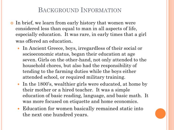 Background Information