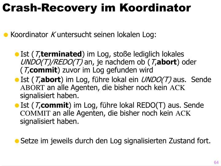 Crash-Recovery im Koordinator