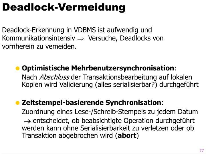 Deadlock-Vermeidung
