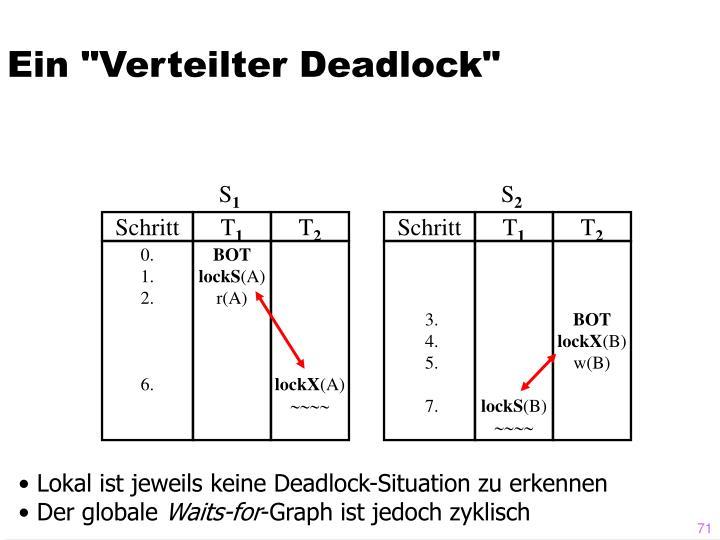 """Ein """"Verteilter Deadlock"""""""